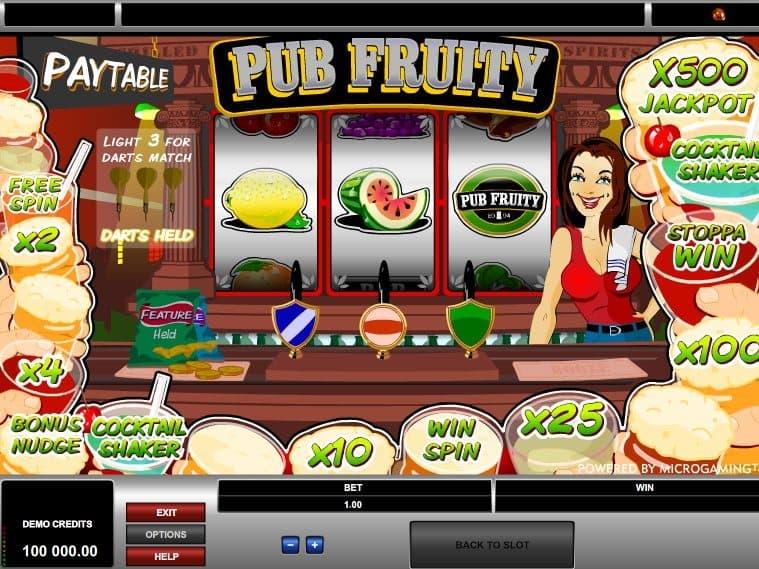 Fruitful park of Pub Fruity